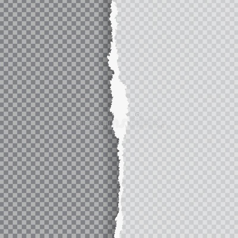 Carta lacerata con il bordo strappato illustrazione di stock