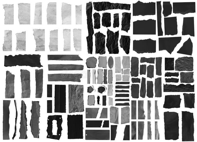 Carta lacerata dello strappo fotografie stock libere da diritti
