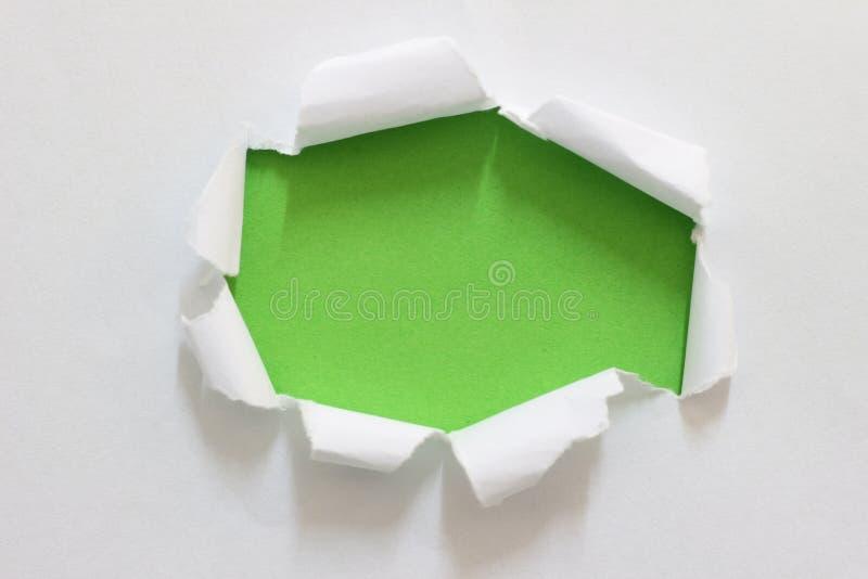Carta lacerata dello strappo fotografia stock
