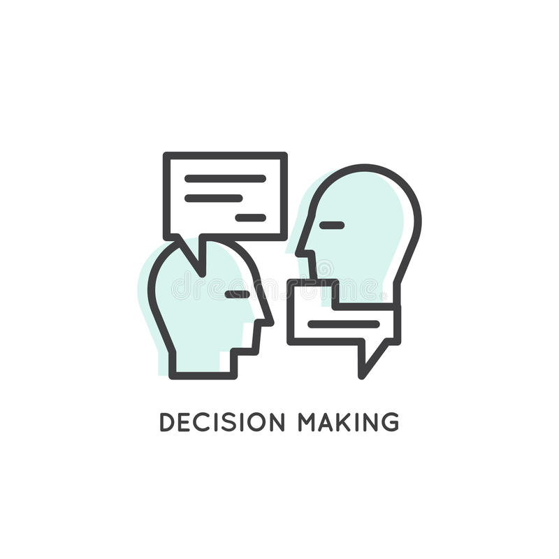 Carta Logo Small Talk, riunione, processo decisionale, conversazione illustrazione vettoriale