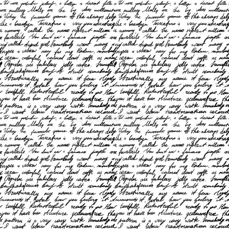 Carta manuscrita stock de ilustración
