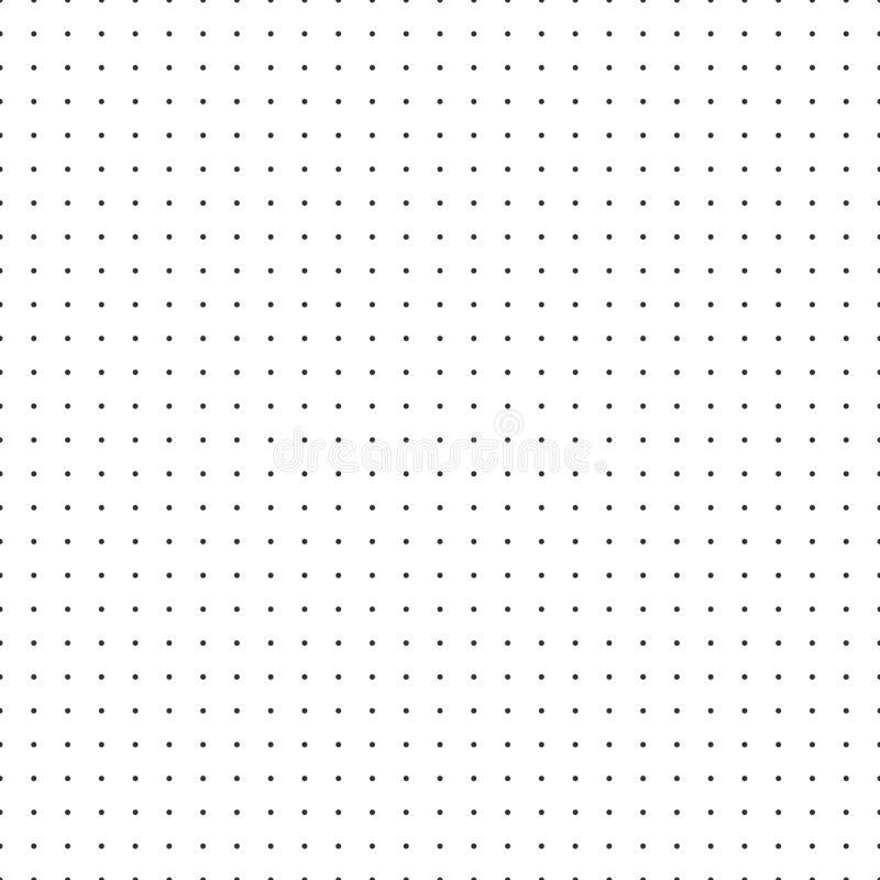 Carta millimetrata della carta di vettore di griglia del punto su fondo bianco illustrazione di stock