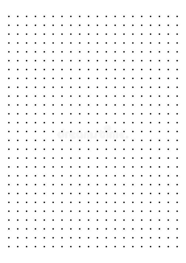Carta millimetrata di Dot Grid Paper 1 cm sul vettore bianco del fondo illustrazione di stock