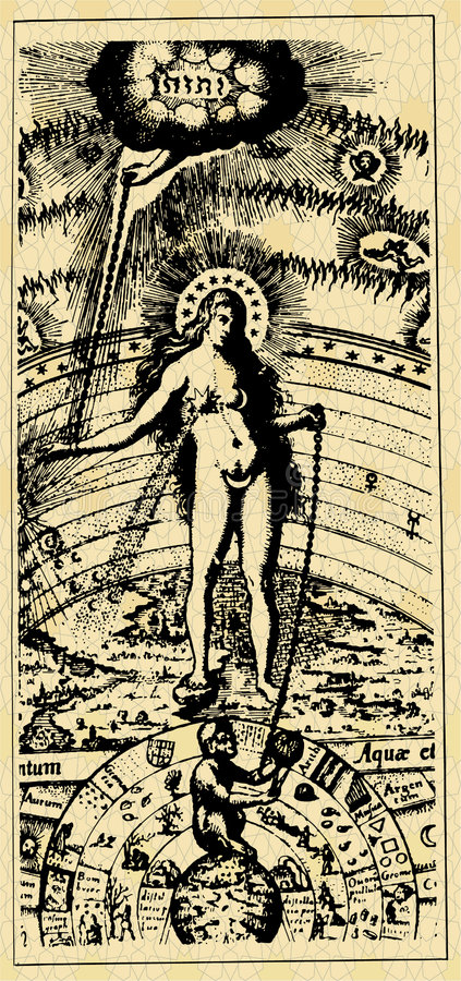 Carta - mujer stock de ilustración