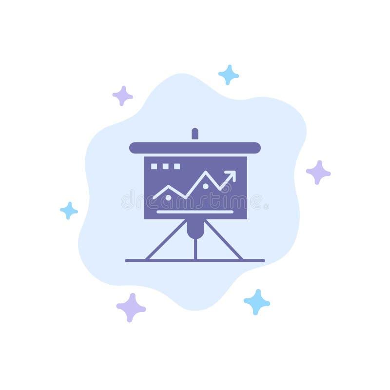 Carta, negocio, desafío, márketing, solución, éxito, icono azul de las táctica en fondo abstracto de la nube libre illustration