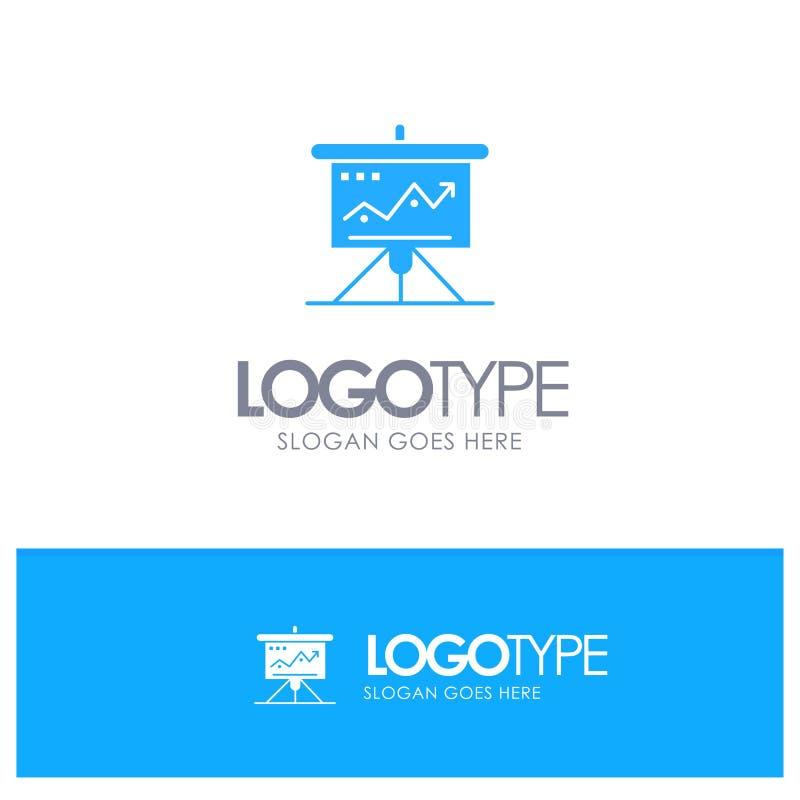 Carta, negocio, desafío, márketing, solución, éxito, logotipo sólido azul de las táctica con el lugar para el tagline libre illustration