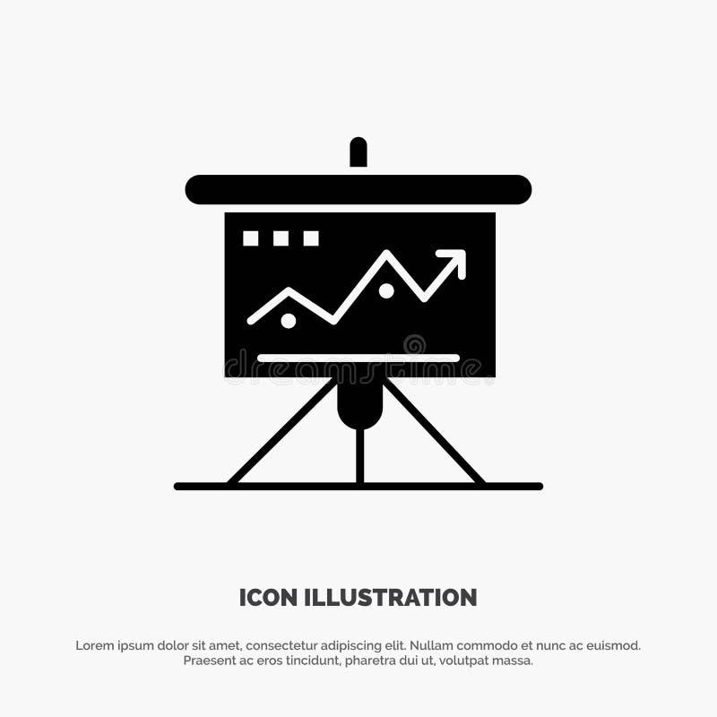 Carta, negocio, desafío, márketing, solución, éxito, vector sólido del icono del Glyph de las táctica libre illustration