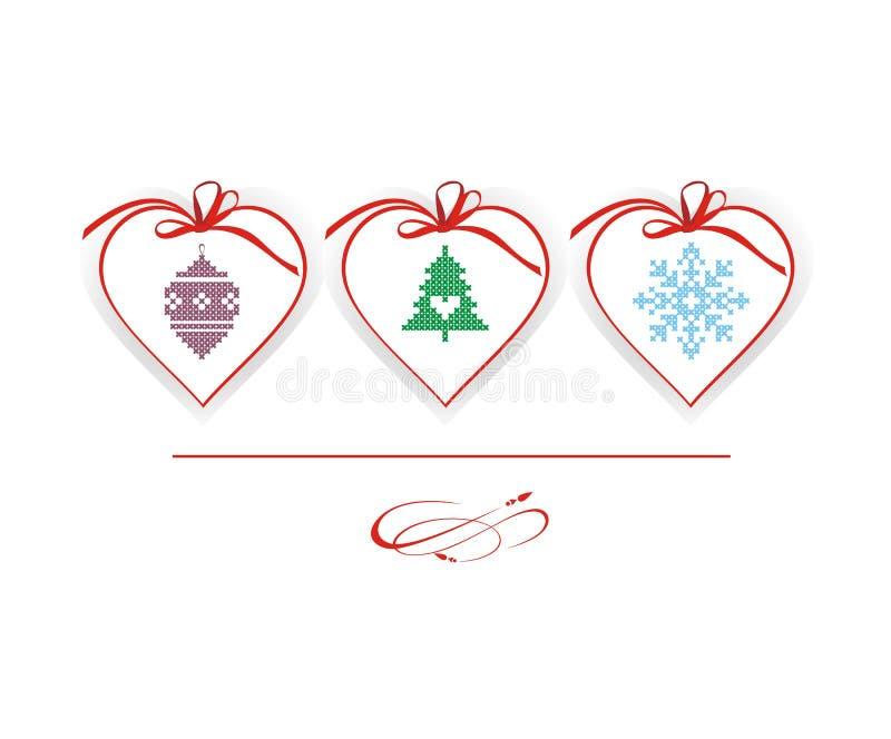 Carta o invito di vettore di Natale illustrazione di stock