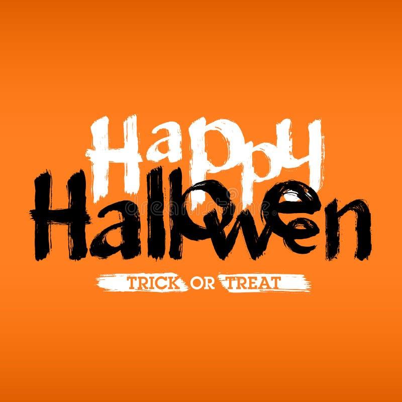 Carta o invito felice di Halloween royalty illustrazione gratis