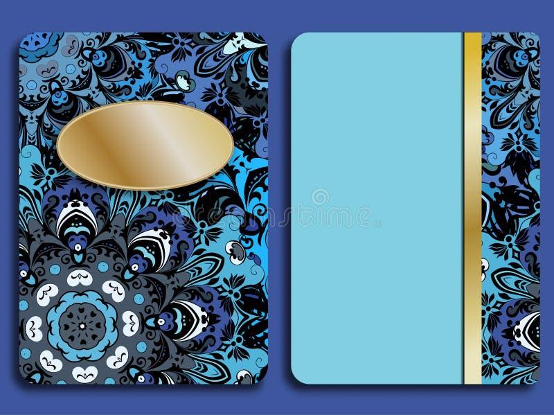 Carta o invito nello stile orientale con l'ornamento floreale orientale delle mandale Islam, arabo, indiano, ottomano, cinese royalty illustrazione gratis
