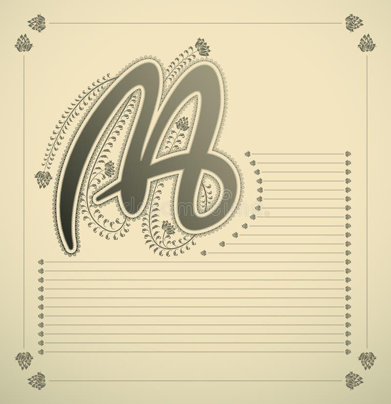 Carta ornamental - M libre illustration