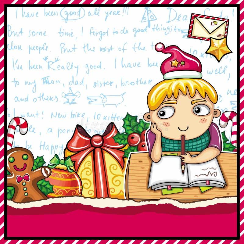 Carta a Papá Noel. stock de ilustración