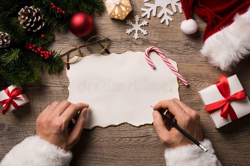 Carta a Papá Noel foto de archivo