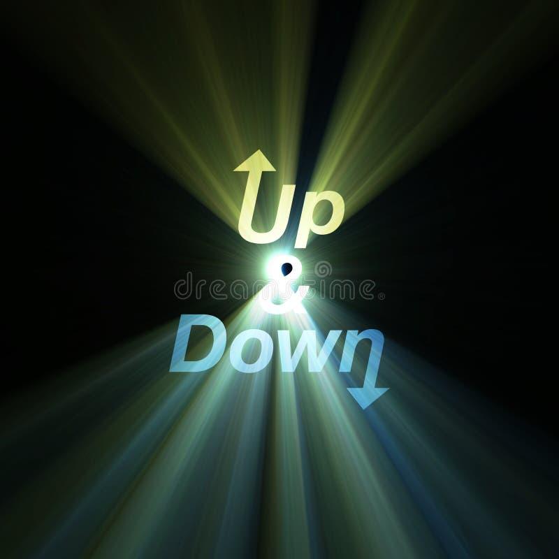 Carta para arriba y abajo flama de la flecha stock de ilustración