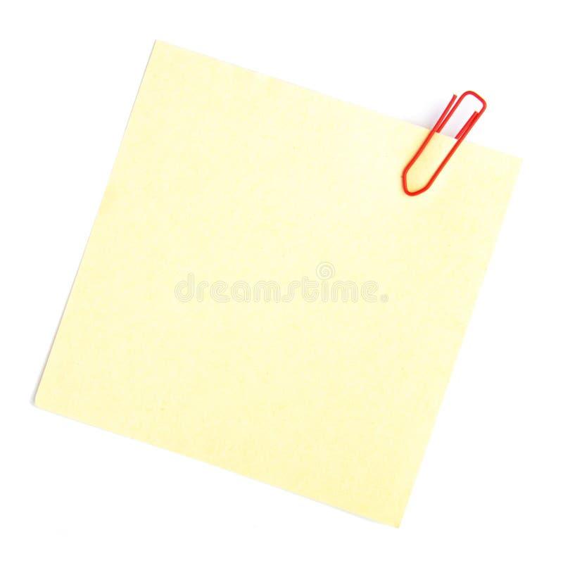 Carta per appunti fotografie stock