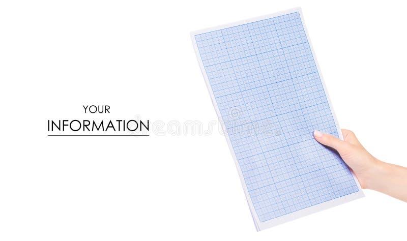 Carta per il tracciato in un modello della mano fotografie stock libere da diritti