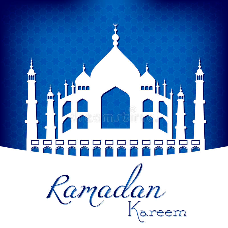 Carta per le congratulazioni con inizio del mese di digiuno del Ramadan royalty illustrazione gratis