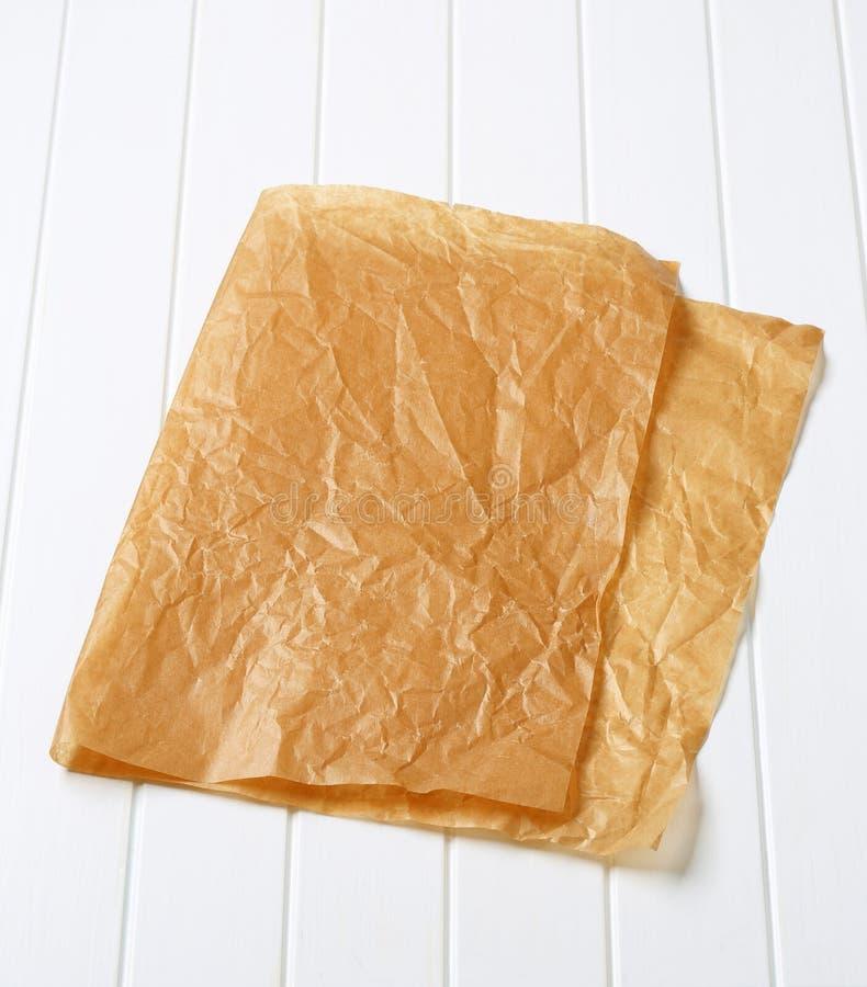 Carta pergamena per cuocere immagine stock