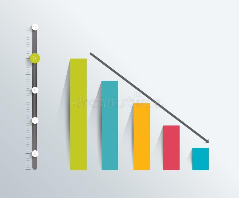 Carta plana Elemento de Infographic stock de ilustración