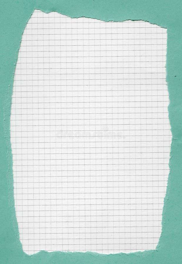 Carta quadrata stracciata immagini stock