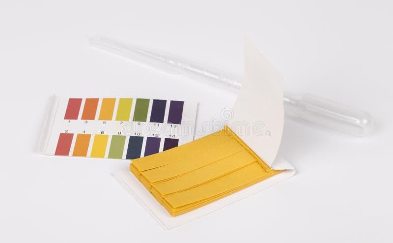 Carta reattiva del tornasole pH fotografia stock libera da diritti
