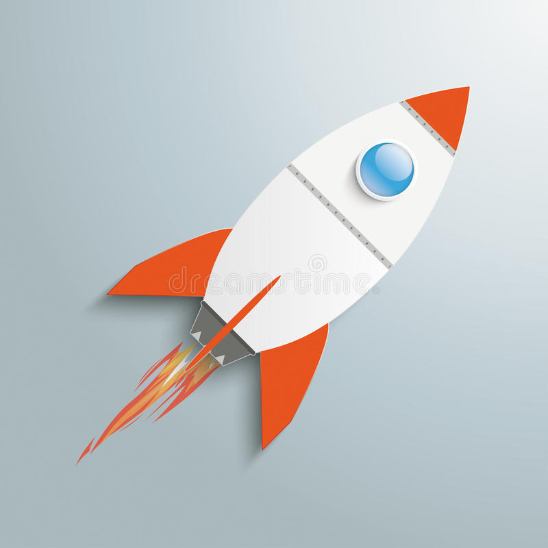 Carta Rocket royalty illustrazione gratis