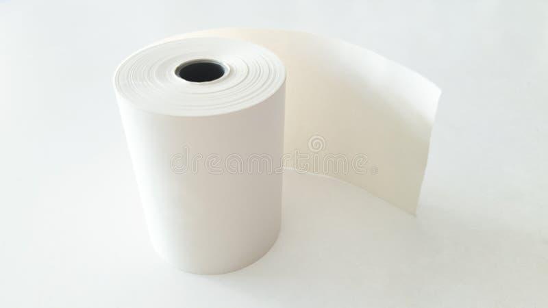 Carta Rolls su fondo bianco fotografie stock