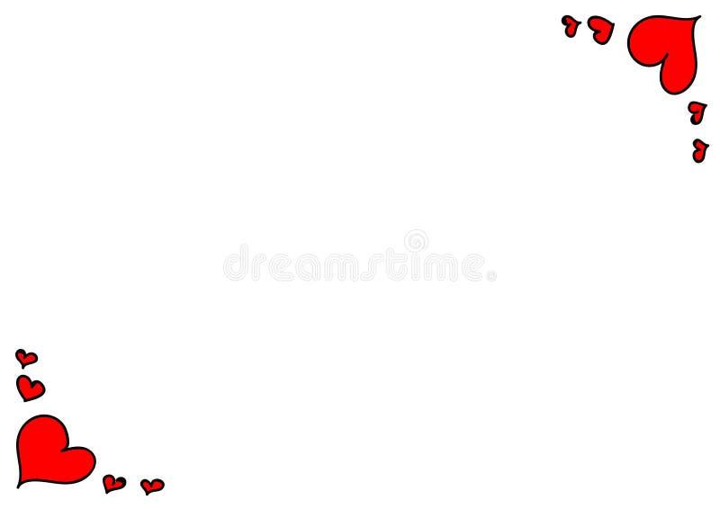Carta rossa del focolare illustrazione di stock