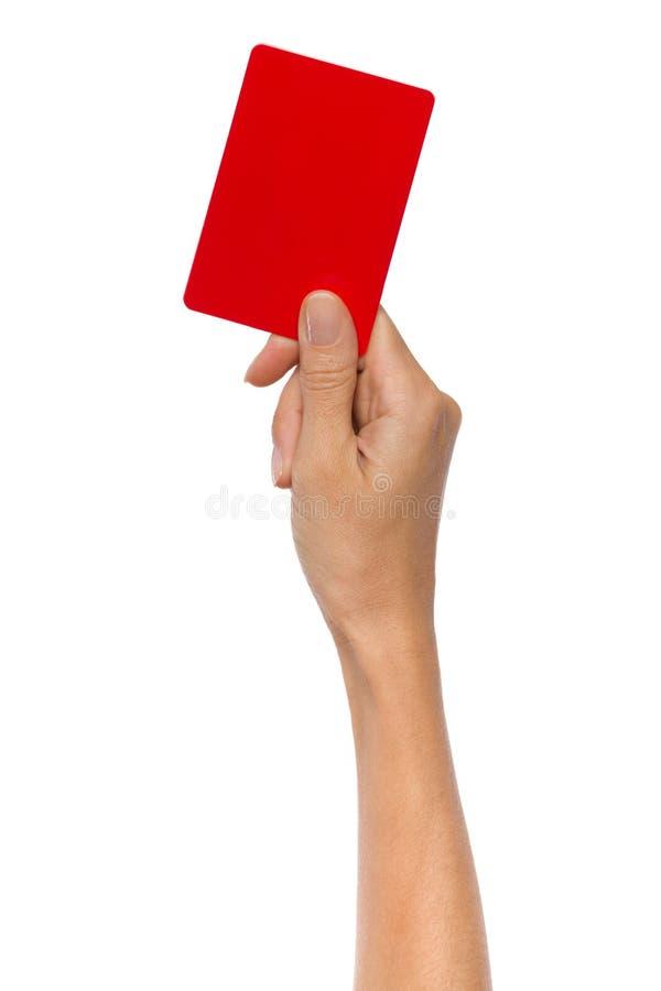 Carta rossa di pena fotografie stock