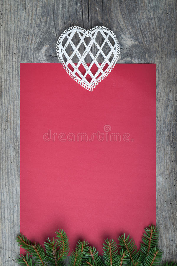 Carta rossa vuota fotografia stock