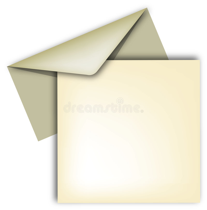 carta sobre y 免版税图库摄影
