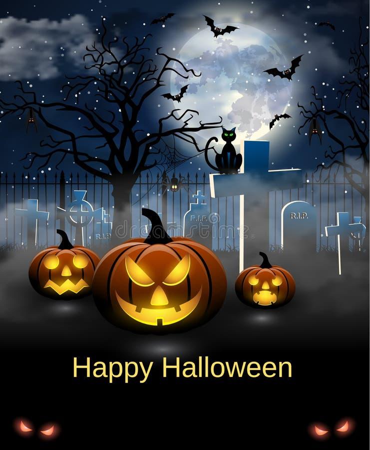 Carta spettrale per Halloween fotografie stock