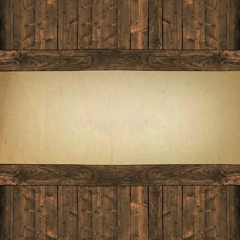 Carta su fondo di legno fotografia stock