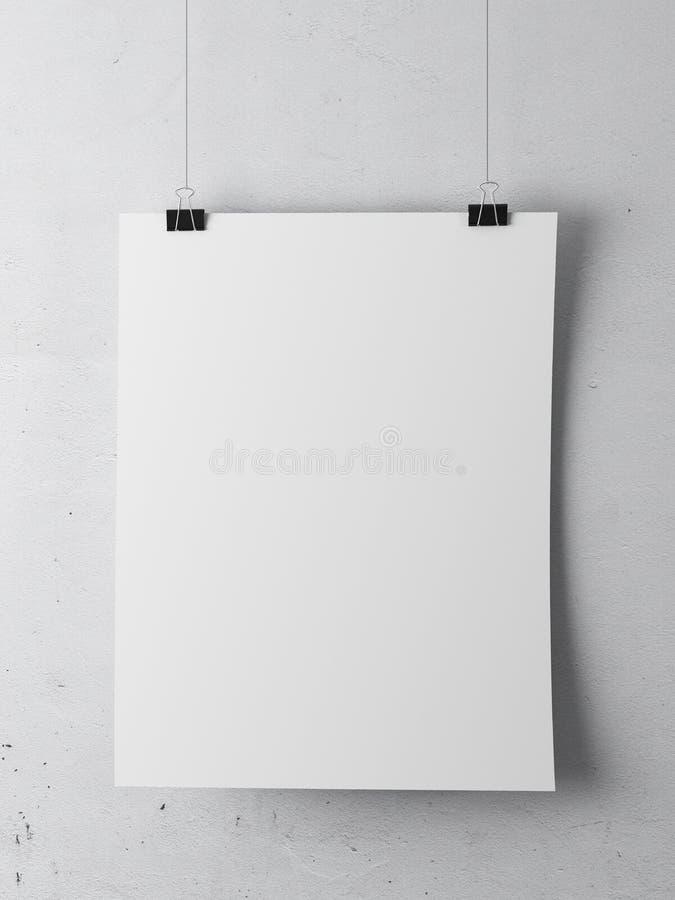 Carta sulla parete bianca royalty illustrazione gratis