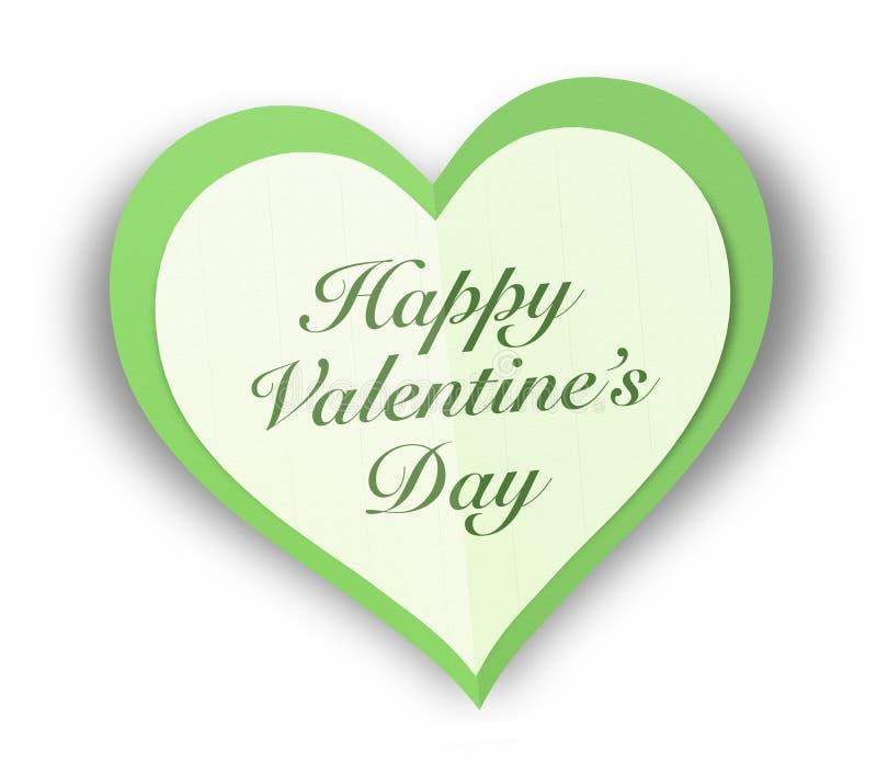 Carta Valentine Love Heart royalty illustrazione gratis