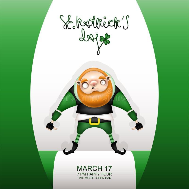 Carta verde y gnomo de Gretting libre illustration