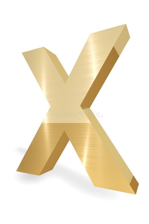 Carta X ilustración del vector
