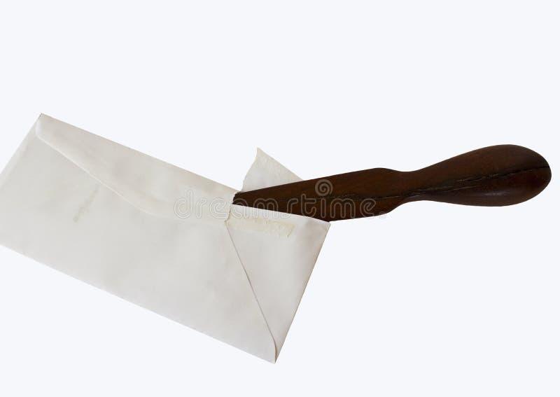 Carta y abrelatas de carta imagen de archivo libre de regalías
