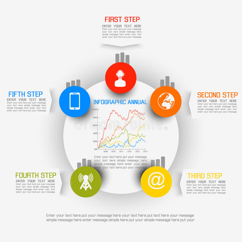 Carta y gráfico demográficos de elementos de Infographic libre illustration