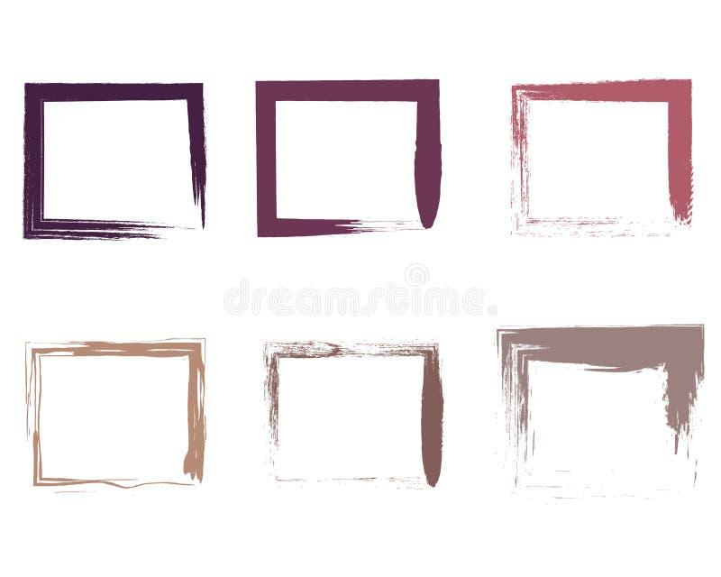 Cartabones abstractos de los movimientos del cepillo del garabato del fondo ilustración del vector