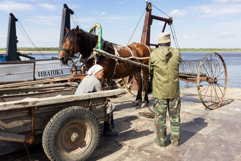 Cartage na ferryboat obrazy royalty free