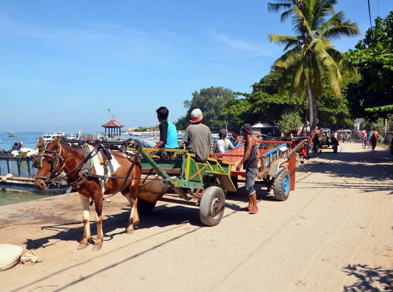 Cartage na Gil powietrzu, Indonezja zdjęcia stock