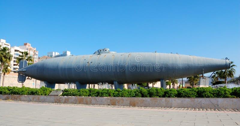 cartagena łódź podwodna Spain zdjęcie stock