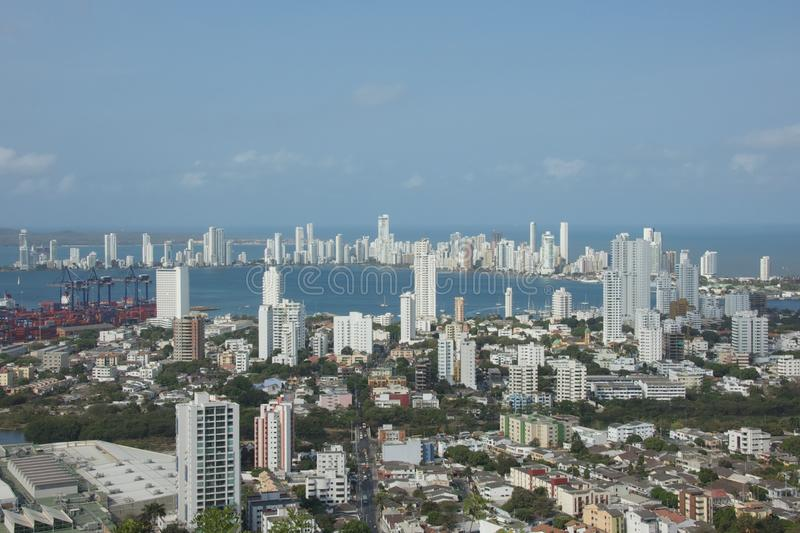 Cartagena Bay in Colombia royalty free stock photography
