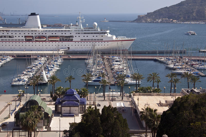 Cartagena - BLANCA da costela - Spain fotografia de stock royalty free