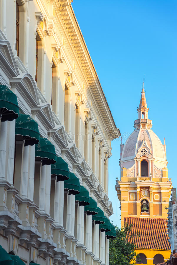 Free Cartagena Cathedral Spire Stock Photos - 37004693