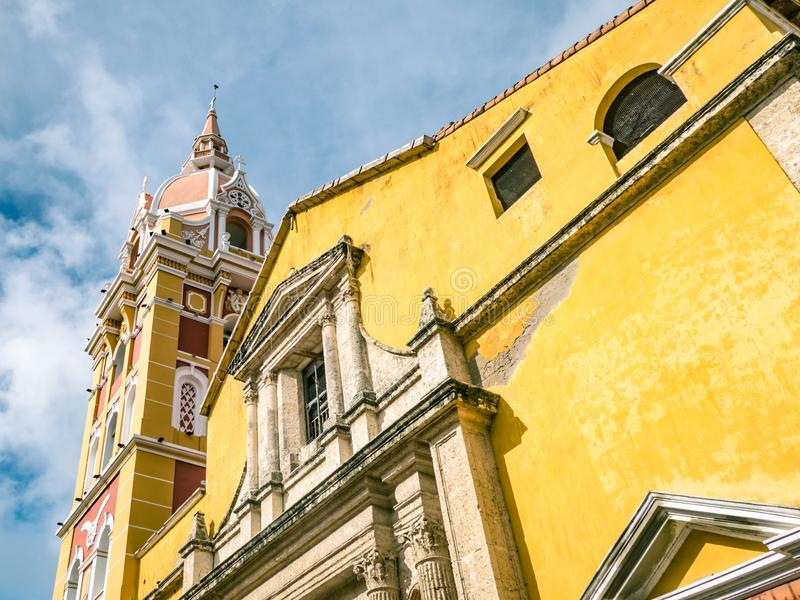 Cartagena City Cathedral Church Colombia South America royalty free stock photo
