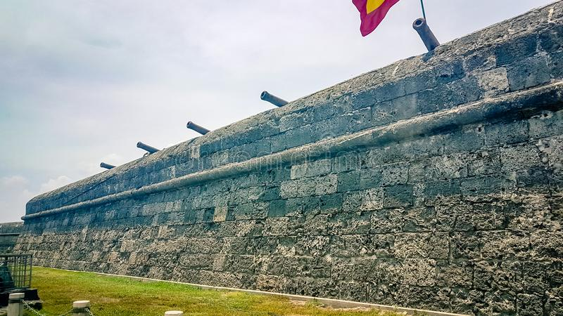 Cartagena City Walls Colombia South America royalty free stock photos