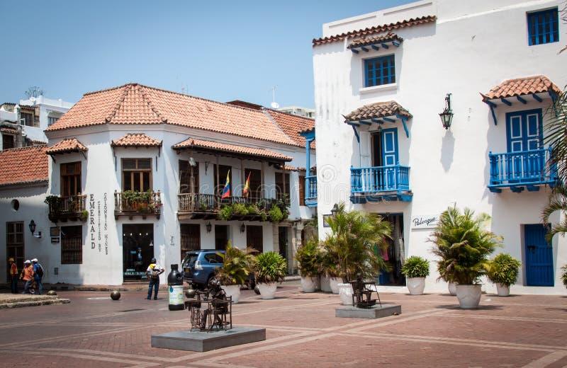 Cartagena Colombia Zuid-Amerika stock afbeeldingen