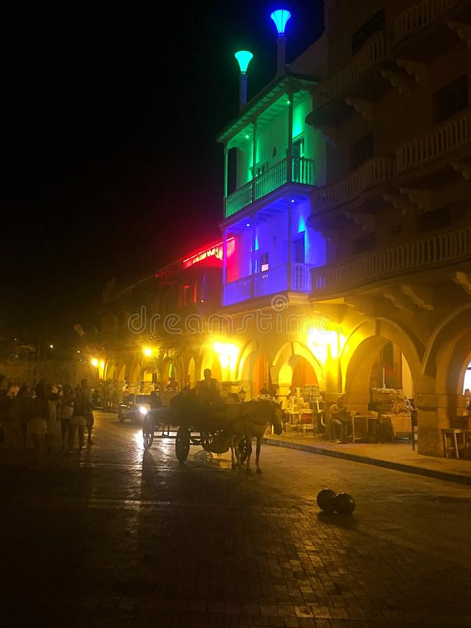 Cartagena Columbia royaltyfri bild